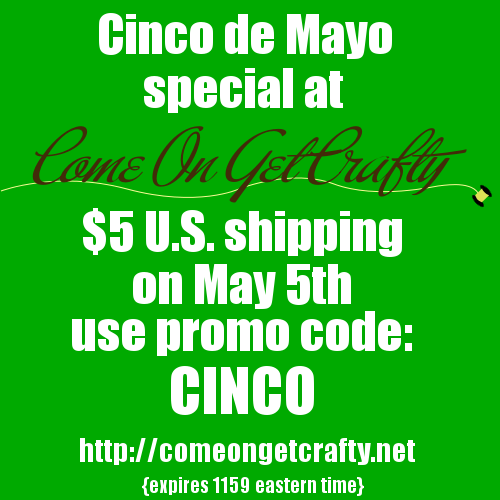 Special Shipping Offer from Come on Get Crafty!